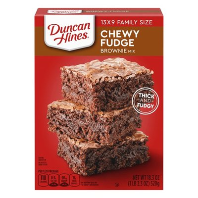 Duncan Hines Chewy Fudge Brownies Mix