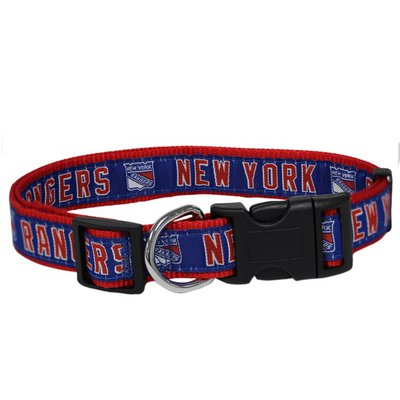 Pets First Medium NHL New York Rangers Collar for Dogs & Cats