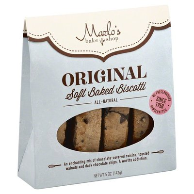 Marlo's Bakeshop Biscotti, Soft Baked, Original, Box