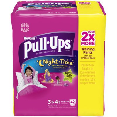 Pull-Ups Night Time for Girls 3T-4T Training Pants