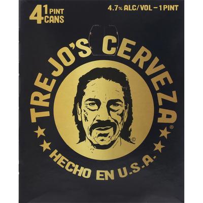 Trejo's Cerveza Beer, Mexican Craft Lager, 4 Pack