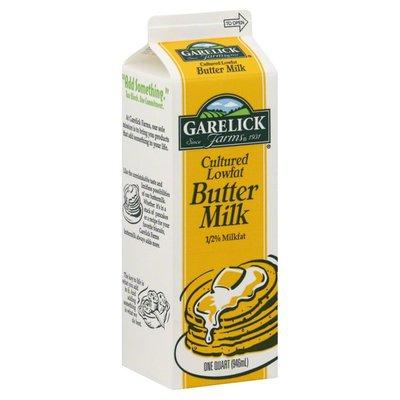 Garelick Farms Butter Milk, Cultured Lowfat, 1/2% Milkfat