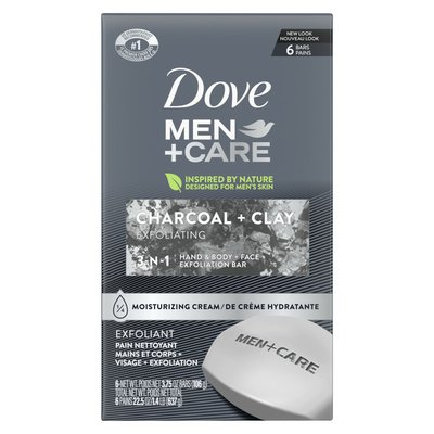 Dove Body And Face Bar Charcoal + Clay