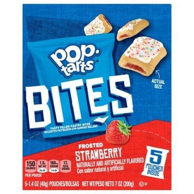 Kellogg's Pop-Tarts Baked Pastry Bites, Frosted Strawberry, Kids Snacks