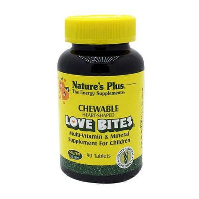 Nature's Plus Love Bites Children's Chewable Multi Vitamin & Mineral Supplement Tablets