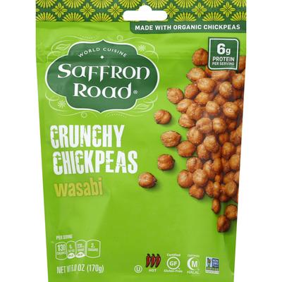 Saffron Road Chickpeas, Wasabi, Hot, Crunchy
