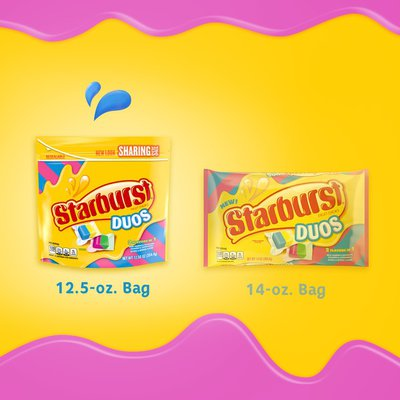 Starburst Flavor Duos Chewy Candy Stand Up Pouch