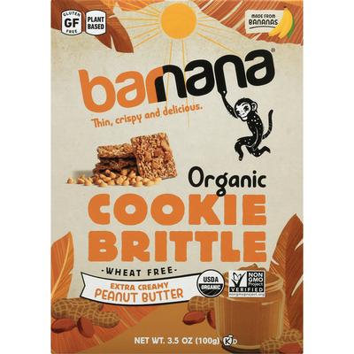 barnana Cookie Brittle, Organic, Extra Creamy Peanut Butter