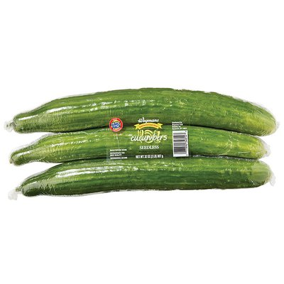 Wegmans Food You Feel Good About Seedless Cucumbers, FAMILY PACK
