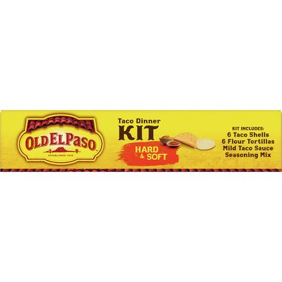 Old El Paso Taco Dinner Kit, Hard & Soft