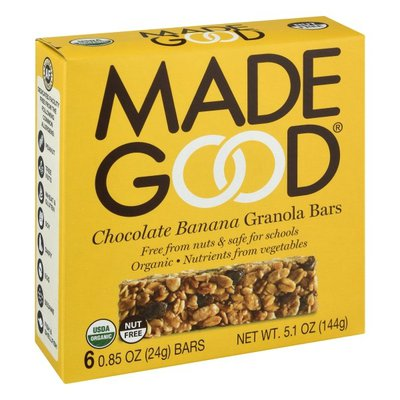 Made Good Organic Granola Bars Chocolate Banana
