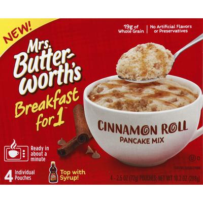 Mrs. Butterworth's Breakfast For 1 Cinnamon Roll Pancake Mix