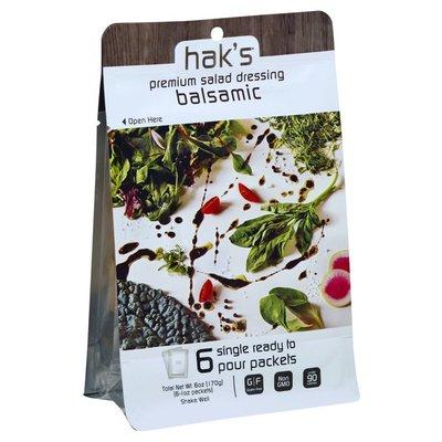 Haks Salad Dressing, Premium, Balsamic