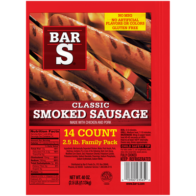 Bar-S Classic Smoked Sausage