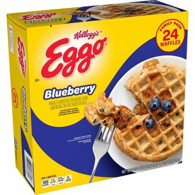 Eggo Frozen Waffles, Frozen Breakfast, Toaster Waffles, Blueberry