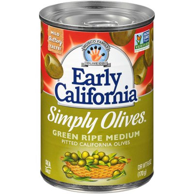 Early California Fresh Cured Green Ripe Olives