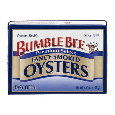 Bumble Bee Oysters, Hardwood Smoked, Shucked