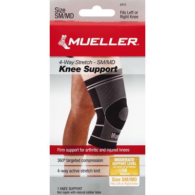 Mueller Knee Support, 4-way Stretch - SM/MD