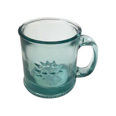 Down To Earth 10 Ounce Clear Sun Handmade Recycled Glass Mug Each Instacart