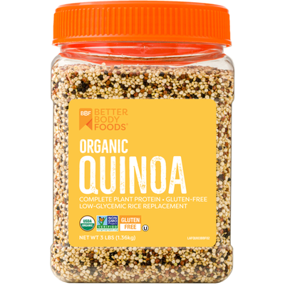 BetterBody Foods Organic Quinoa, glycemic rice replacement