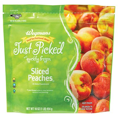 Wegmans Food You Feel Good About Just Picked and Quickly Frozen Sliced Peaches
