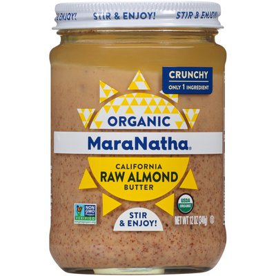 Maranatha Crunchy Organic California Raw Almond Butter