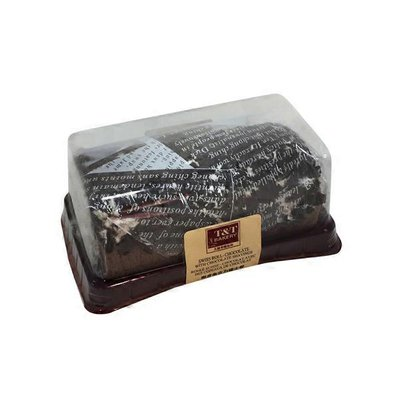 T&T Chocolate Swiss Rolls With Chocolate Shavings