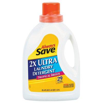 Always Save Tropical Breeze 2X Ultra Liquid Laundry Detergent