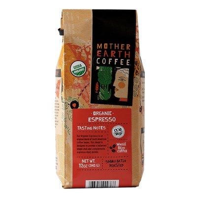 Mother Earth Coffee Espresso, Whole Bean