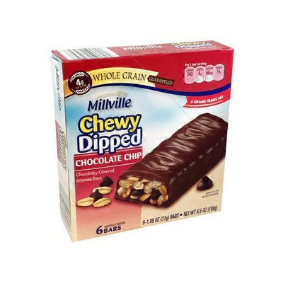 Millville Chocolate Chip Chewy Dipped Granola Bars