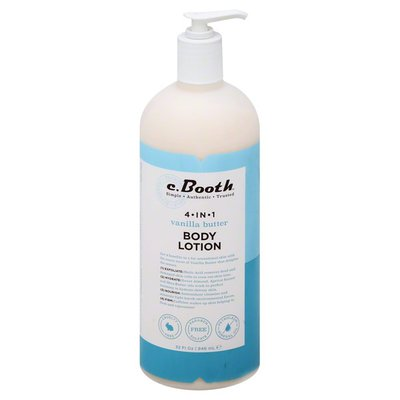 C. Booth Body Lotion, 4-in-1, Vanilla Butter