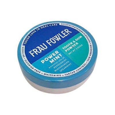 Frau Fowler Tooth & Gum Powder, Power Mint