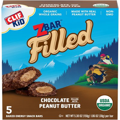 CLIF Kid Chocolate Filled with Peanut Butter Baked Energy Snack Bars