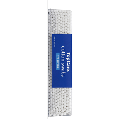 TopCare Cotton Swabs, Double-Tipped, Paper Sticks