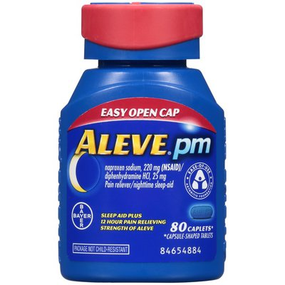 Aleve PM Naproxen Sodium 220mg Caplets Pain Reliever/Nighttime Sleep Aid