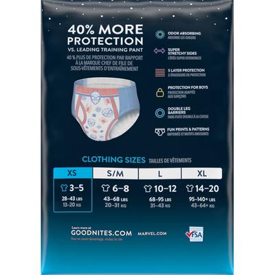GoodNites Bedwetting Underwear for Boys, XS