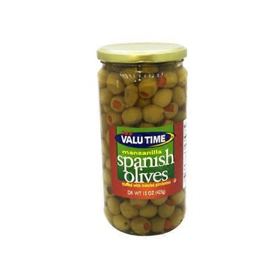 Valu Time Manzanilla Stuffed Spanish Olives