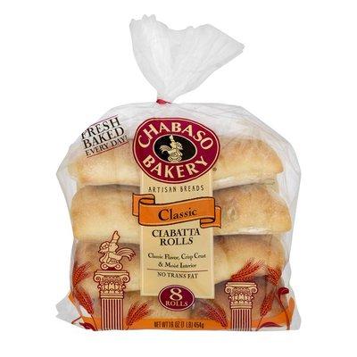 Chabaso Bakery Artisan Breads Classic Ciabatta Rolls - 8 CT