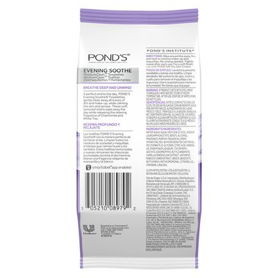 Pond's Makeup Remover Wipes Evening Soothe