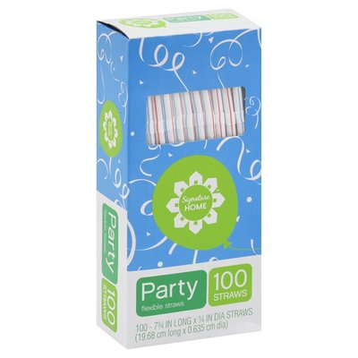 Signature Home Party Flexible Straws