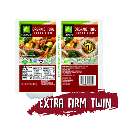 Nasoya Tofu, Organic, Extra Firm, Twin Pack