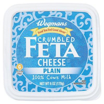 Wegmans Cheese, Feta, Crumbled, Plain