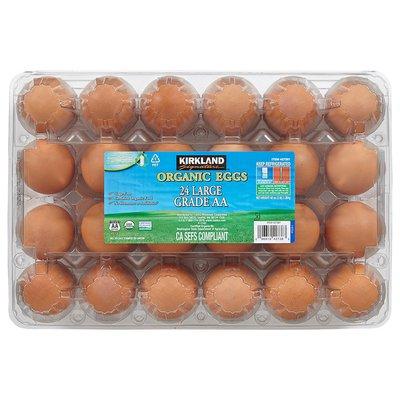 Kirkland Signature Organic Brown Eggs USDA Large Grade AA