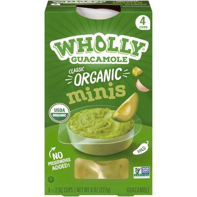 Wholly Guacamole Organic Classic Guacamole Minis