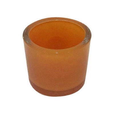 Black & Orange Glass Votives
