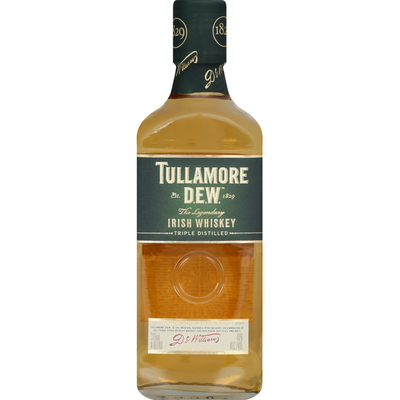 Tullamore Dew Irish Whiskey, Triple Distilled, The Legendary