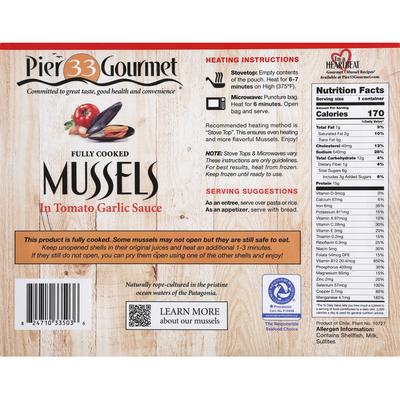 Pier 33 Gourmet Mussels, in Tomato Garlic Sauce