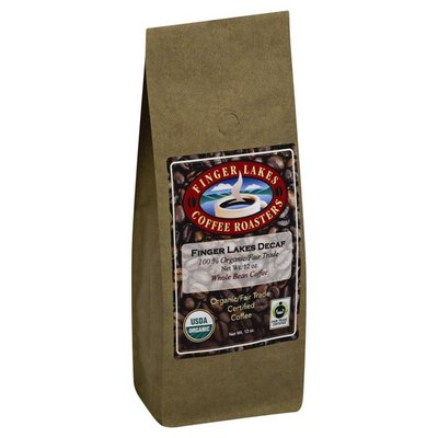 Finger Lakes Coffee Roasters Coffee, Organic/Fair Trade Certified, Whole Bean, Finger Lakes Decaf