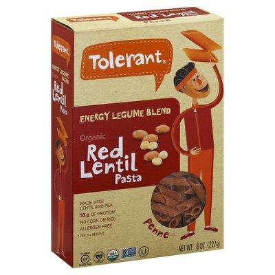 Tolerant Penne, Organic, Red Lentil Pasta