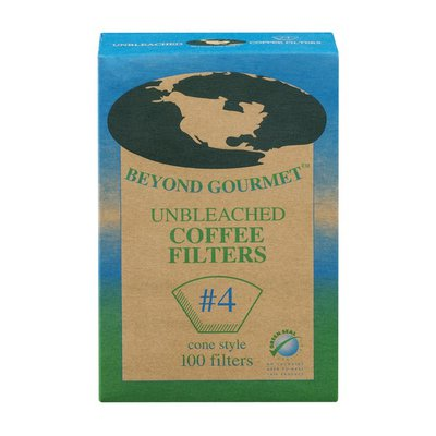 Beyond Gourmet Cone Style #4 Coffee Filters Unbleached - 100 CT